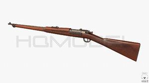 3d model krag rifle pbr