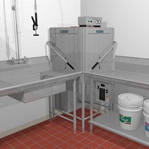 3d model restaurant dishwasher