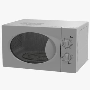 microwave oven modeled obj