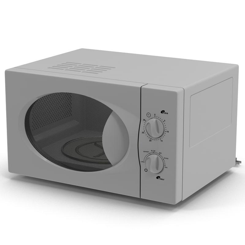 microwave oven modeled obj