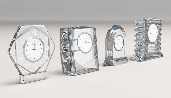3d model baccarat clocks