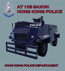 3d model 105 police hong