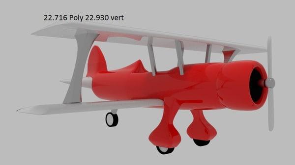 bi-plane biplane 3d model