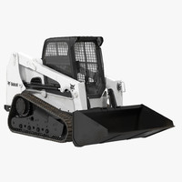 3d model bobcat compact tracked loader
