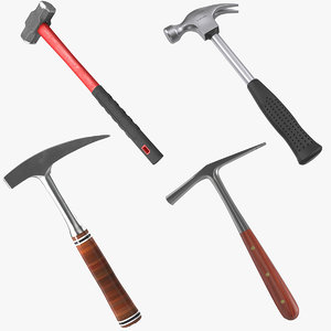 3d model of generic hammers 2 modeled