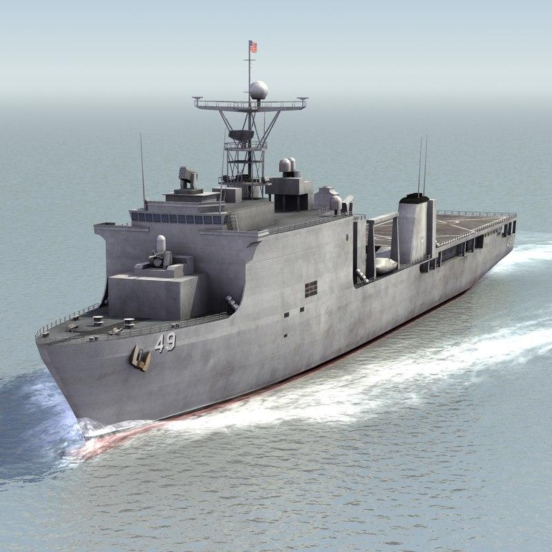 3d model lsd-49 uss harpers ferry