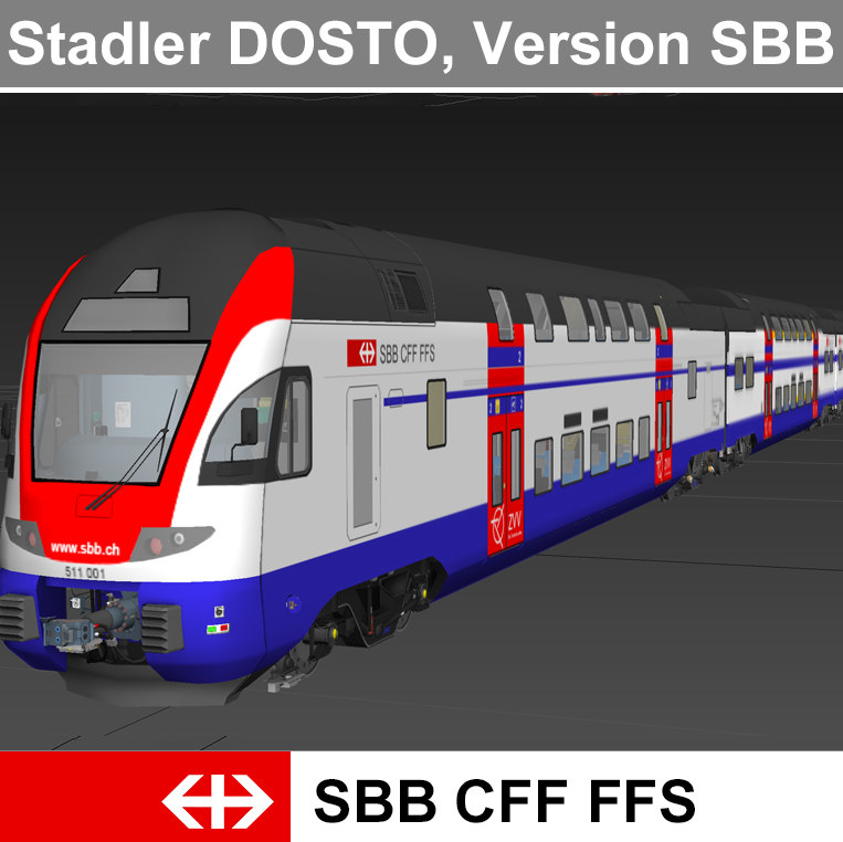 passenger train - 3d 3ds