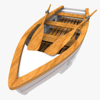 wooden rowing boat max