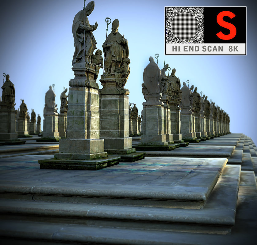 bishop pedestal ready 3d model