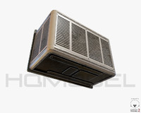 air conditioner 01 pbr 3d model