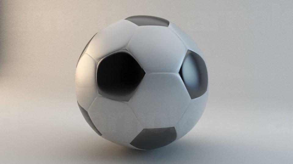 3dsmax football soccer ball