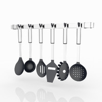 3d model kitchen tools set