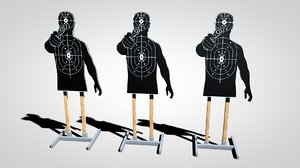silhouette target stand 3d c4d