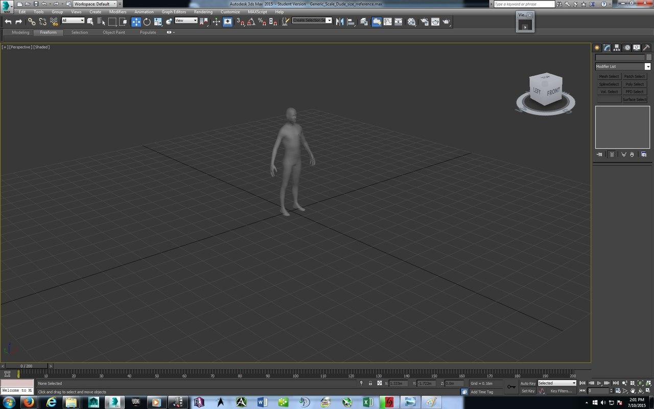 human scale 3d model