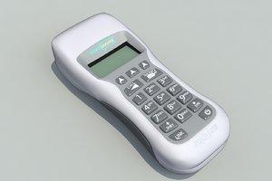 voting handset conferences 3d model