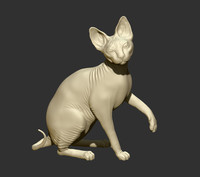 3d model cat sphinx
