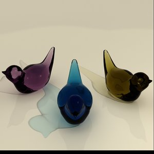 birds glass 3d model