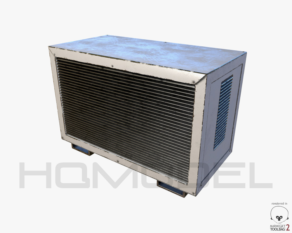 3d model air conditioner 02 pbr