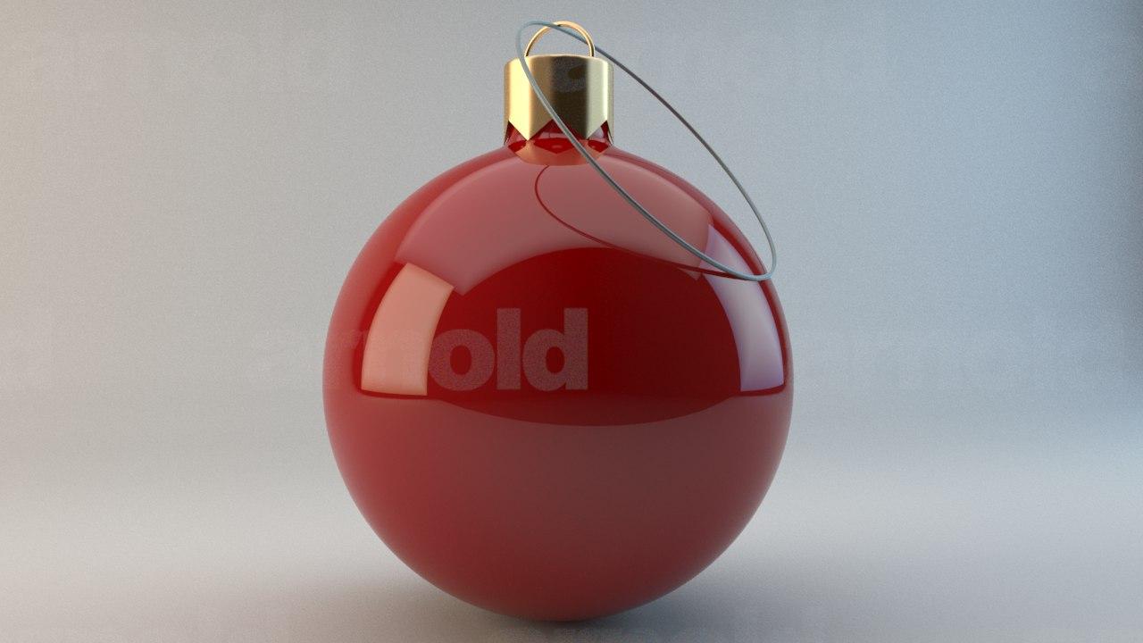 3d christmas bobble model