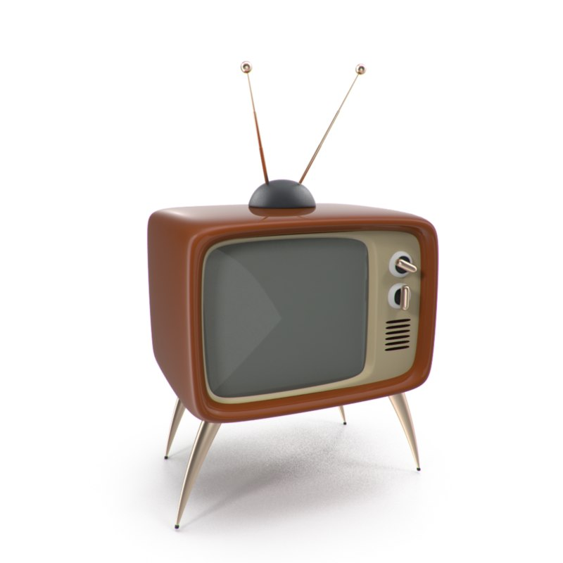 3d max retro vintage television