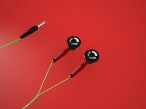 3d earphones - headphones model