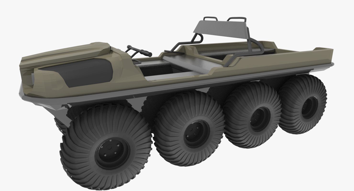3d 8-wheel amphibious argo