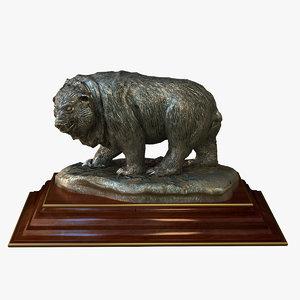 3ds max statuette bear