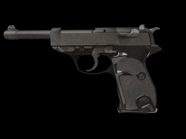 3d pistol p1 model