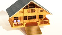 chalet - mountain house 3d 3ds