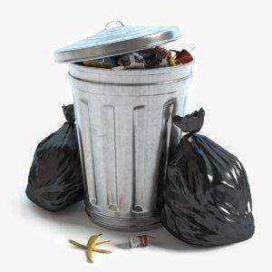 3d garbage bags