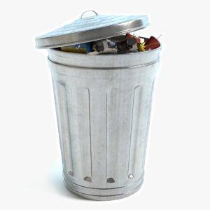 garbage trash 3d 3ds