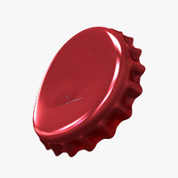 bottle cap scratched 3d model