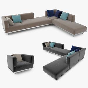 royal botania lazy sofa 3d model