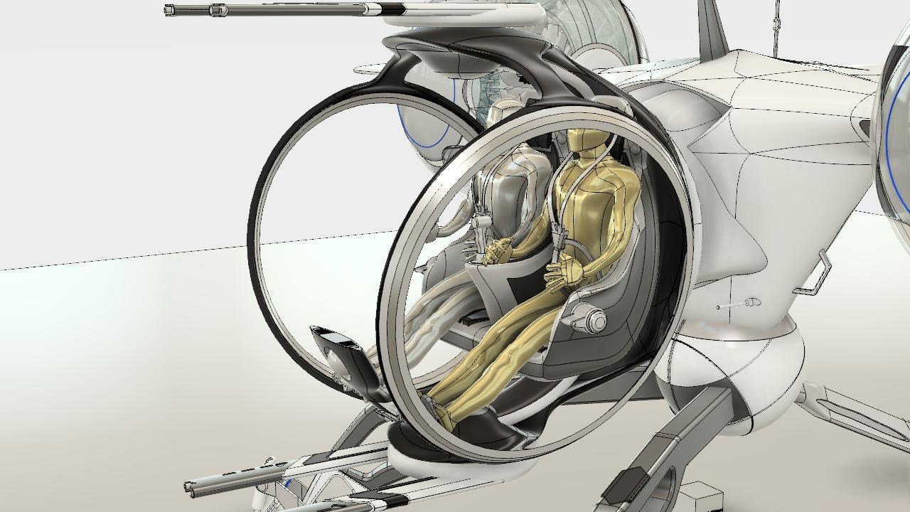 3d bubble ship cad model