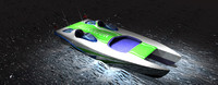 11m speed boat catamaran 3ds
