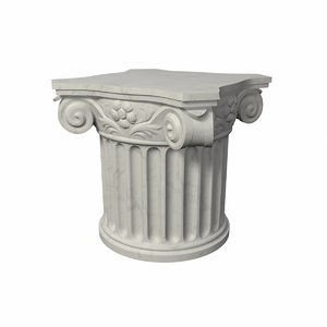 3d model pedestal antique