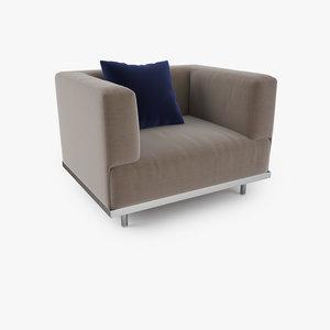 3d model royal botania lazy armchair