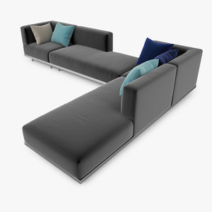 3ds max royal botania lazy sofa