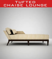 tufted chaise lounge 3d model