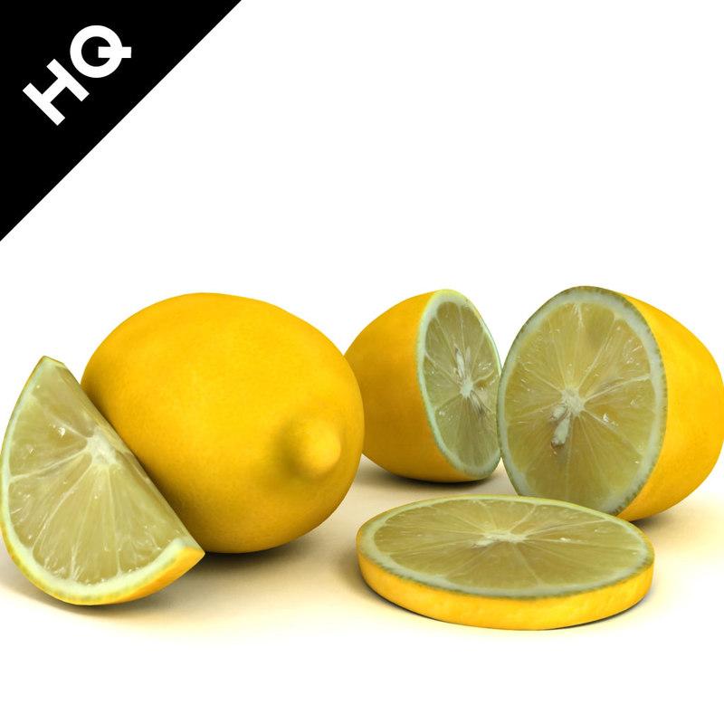 lemon scanline 3d obj