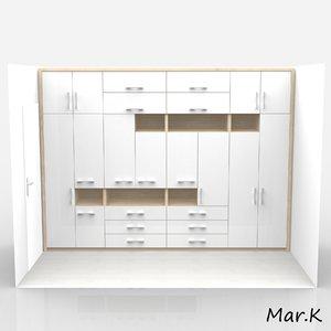 wardrobe 3d 3ds