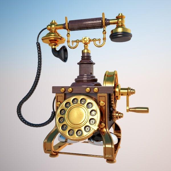 max telephone phone antique