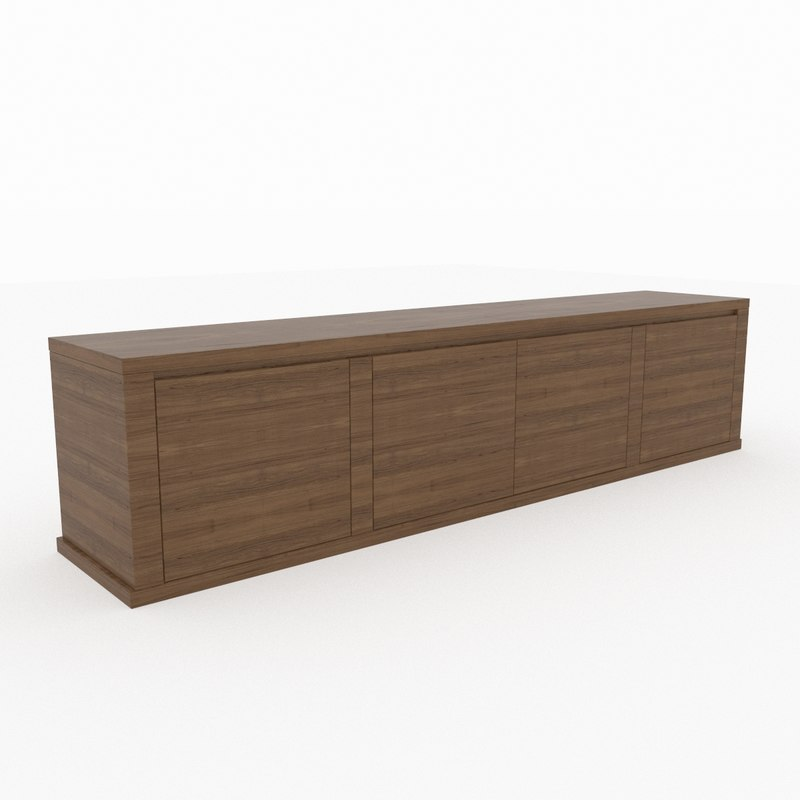 3d teia modeled sideboard