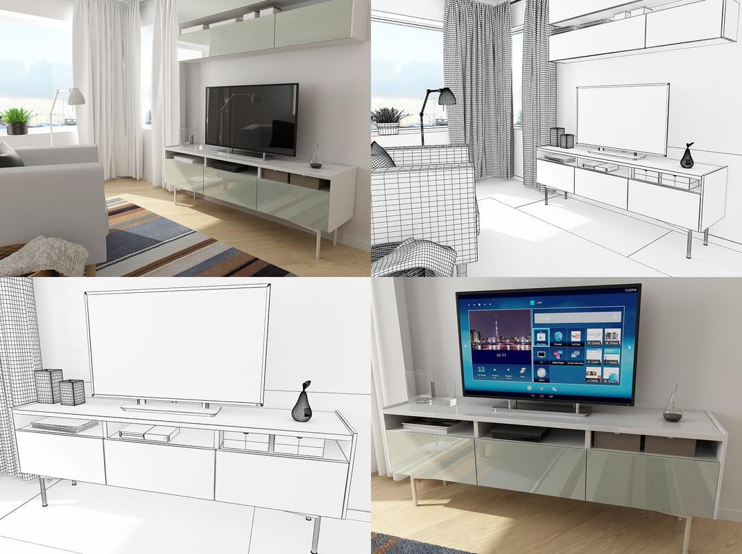 small living room 3d model