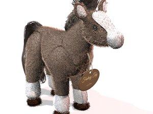 3d obj plush horse