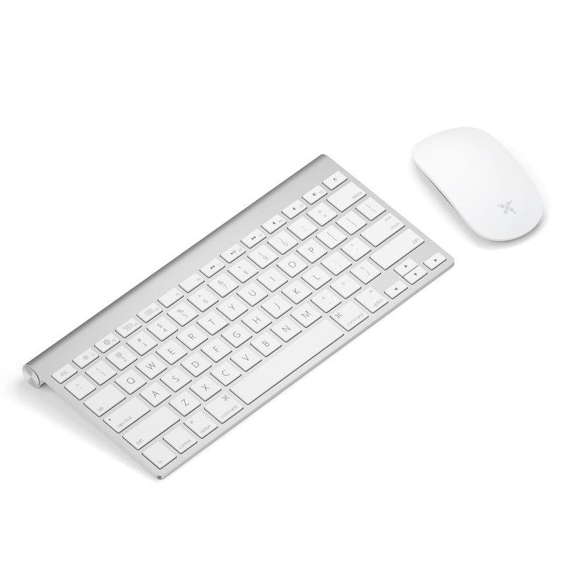 obj silver keyboard mouse