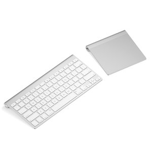 silver keyboard touchpad 3d obj
