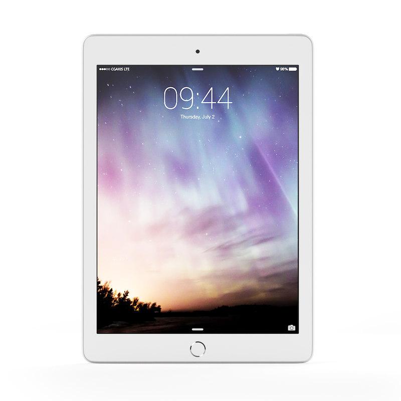 3d model tablet white