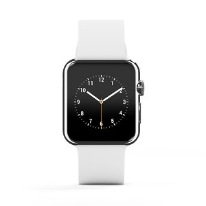 white smartwatch 3d model