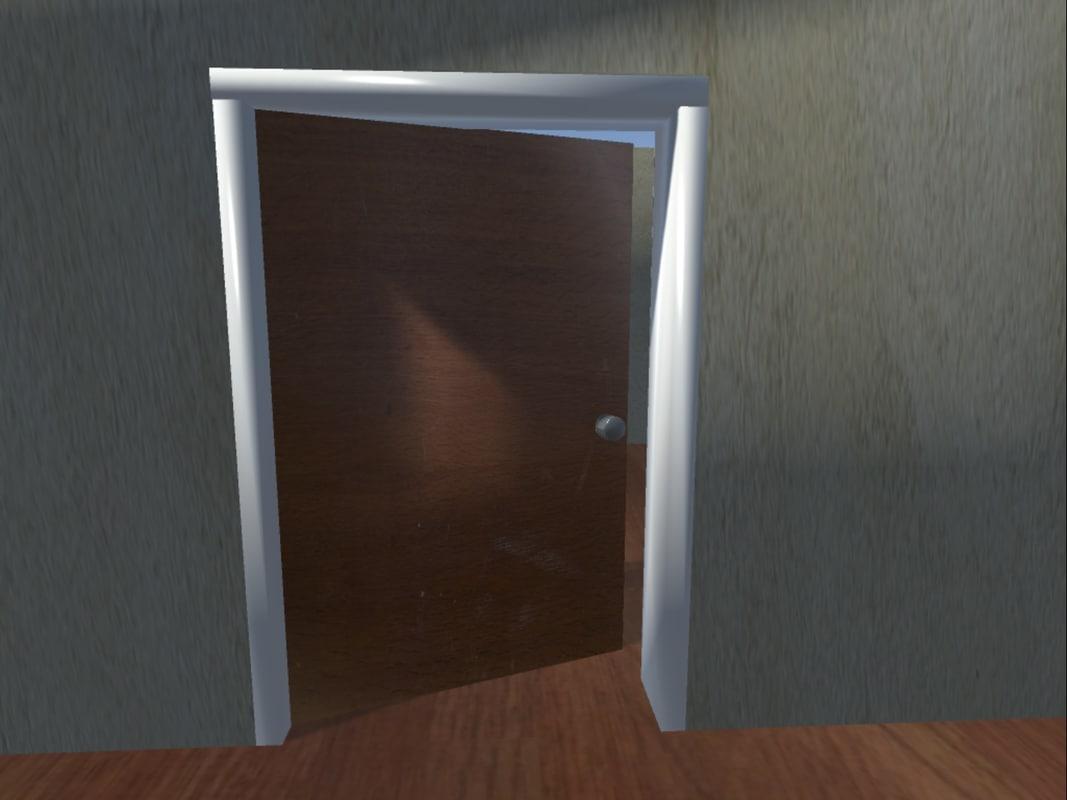 wood door 3ds free